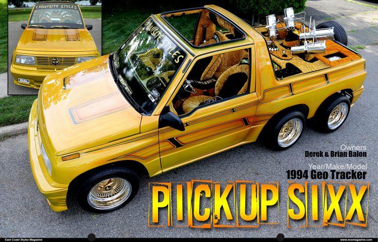 "Brian and Derek Balon's 1994 Geo Tracker ""Pickup Sixx"""